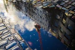 Αφηρημένες αντανακλάσεις λακκούβας Στοκ Φωτογραφία