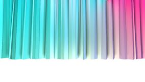 Αφηρημένες απλές μπλε ρόδινες χαμηλές πολυ τρισδιάστατες κουρτίνες ως ενδιαφέρον περιβάλλον Μαλακό χαμηλό πολυ υπόβαθρο κινήσεων  ελεύθερη απεικόνιση δικαιώματος