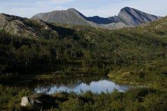 Αφηρημένες βουνό και κοιλάδα Στοκ Φωτογραφίες