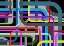 αφηρημένες γραμμές γωνίας &omi απεικόνιση αποθεμάτων