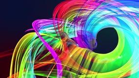 Αφηρημένες γραμμές στην κίνηση ως άνευ ραφής δημιουργικό υπόβαθρο Ζωηρόχρωμη συστροφή λωρίδων σε έναν κυκλικό σχηματισμό Περιτυλι απεικόνιση αποθεμάτων