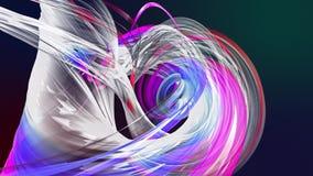 Αφηρημένες γραμμές στην κίνηση ως άνευ ραφής δημιουργικό υπόβαθρο Ζωηρόχρωμη συστροφή λωρίδων σε έναν κυκλικό σχηματισμό Περιτυλι φιλμ μικρού μήκους