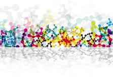 Αφηρημένες εικονίδιο DNA και συλλογή στοιχείων φουτουριστική τεχνολ&omicr ελεύθερη απεικόνιση δικαιώματος