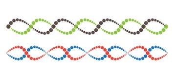 Αφηρημένες εικονίδιο DNA και συλλογή στοιχείων φουτουριστική τεχνολ&omicr απεικόνιση αποθεμάτων