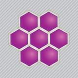 Αφηρημένες εικόνες των μοριακών δομών. Στοκ Εικόνες