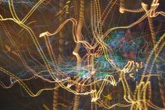 Αφηρημένες ελαφριές γραμμές & ακτίνες Στοκ Εικόνες