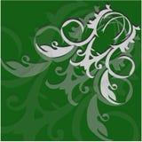 Αφηρημένες ελαφριές μπούκλες σε ένα πράσινο υπόβαθρο Στοκ Εικόνες
