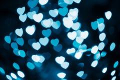 Αφηρημένες εορταστικές καρδιές bokeh Στοκ φωτογραφίες με δικαίωμα ελεύθερης χρήσης