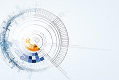Αφηρημένες επιχείρηση υποβάθρου τεχνολογίας & κατεύθυνση ανάπτυξης Στοκ Εικόνες
