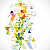 Αφηρημένες ζωηρόχρωμες και δημιουργικές γεωμετρικές υπόβαθρο, διάνυσμα & απεικόνιση Στοκ Εικόνες