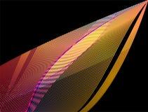 Αφηρημένες ζωηρόχρωμες κυματιστές γραμμές Στοκ εικόνες με δικαίωμα ελεύθερης χρήσης