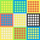 Αφηρημένες ζωηρόχρωμες τρύπες κύκλων με τη σκιά στο υπόβαθρο κρητιδογραφιών Στοκ εικόνες με δικαίωμα ελεύθερης χρήσης