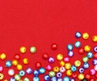 Αφηρημένες ζωηρόχρωμες χάντρες Στοκ φωτογραφίες με δικαίωμα ελεύθερης χρήσης