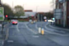 Αφηρημένες θαμπάδες στο δρόμο με τα αυτοκίνητα στο Μάντσεστερ UK Αγγλία στοκ φωτογραφίες