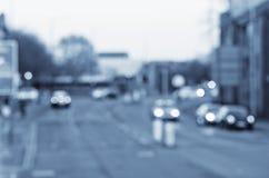 Αφηρημένες θαμπάδες στο δρόμο με τα αυτοκίνητα στο Μάντσεστερ UK Αγγλία στοκ εικόνα με δικαίωμα ελεύθερης χρήσης