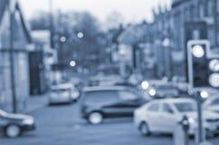 Αφηρημένες θαμπάδες στο δρόμο με τα αυτοκίνητα στο Μάντσεστερ UK Αγγλία στοκ εικόνες με δικαίωμα ελεύθερης χρήσης
