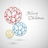 Αφηρημένες διανυσματικές διακοσμήσεις Χριστουγέννων Στοκ Φωτογραφίες