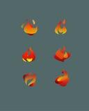Αφηρημένες διανυσματικές φλόγες Στοκ Εικόνες