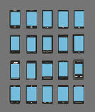 Αφηρημένες διαφορετικές κινητές συσκευές Στοκ εικόνες με δικαίωμα ελεύθερης χρήσης