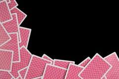 Αφηρημένες κάρτες πόκερ ανασκόπησης Στοκ φωτογραφία με δικαίωμα ελεύθερης χρήσης