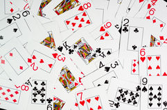Αφηρημένες κάρτες πόκερ ανασκόπησης Στοκ φωτογραφίες με δικαίωμα ελεύθερης χρήσης