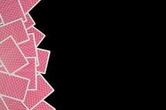 Αφηρημένες κάρτες πόκερ Στοκ φωτογραφία με δικαίωμα ελεύθερης χρήσης