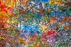Αφηρημένες καλλιτεχνικές ομπρέλες χρώματος δυσλειτουργίας Στοκ Εικόνες