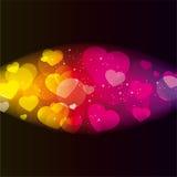 αφηρημένες καρδιές ανασκό& Στοκ εικόνα με δικαίωμα ελεύθερης χρήσης
