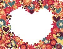 αφηρημένες καρδιές λουλ Στοκ Εικόνα