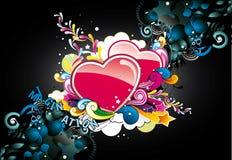 αφηρημένες καρδιές χρώματ&omicro στοκ φωτογραφία