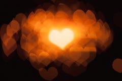 Αφηρημένες καρδιές bokeh Στοκ Εικόνες