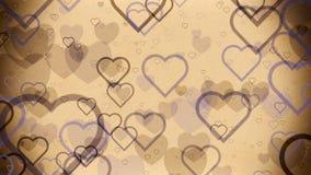 Αφηρημένες καρδιές σε έναν ανοικτό καφέ τρύγο απεικόνιση αποθεμάτων