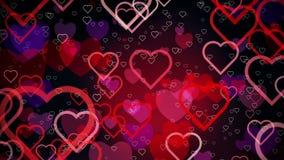 Αφηρημένες καρδιές σε έναν σκούρο κόκκινο ελεύθερη απεικόνιση δικαιώματος