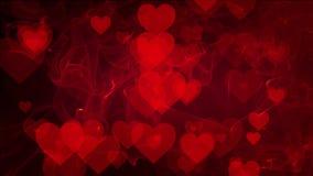Αφηρημένες καρδιές στο κόκκινο υπόβαθρο απεικόνιση αποθεμάτων