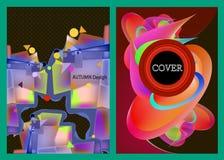 Αφηρημένες καλύψεις χρώματος καθορισμένες καλές για το σχέδιο εμβλημάτων αφισών κάλυψης Στοκ Εικόνες