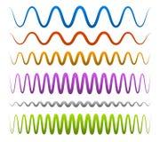 Αφηρημένες, κυματιστές γραμμές Στοκ Εικόνα