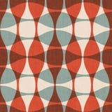 Αφηρημένες κόκκινες καμπύλες άνευ ραφής διανυσματική απεικόνιση