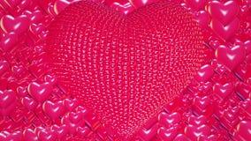 Αφηρημένες κόκκινες καρδιές διανυσματική απεικόνιση