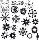 αφηρημένες μαύρες διακο&sigm απεικόνιση αποθεμάτων