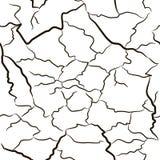 Αφηρημένες μαύρες ρωγμές άνευ ραφής σύσταση Απεικόνιση αποθεμάτων