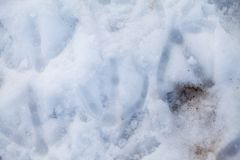Αφηρημένες μορφές χιονιού - σύσταση Στοκ φωτογραφίες με δικαίωμα ελεύθερης χρήσης