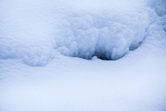 Αφηρημένες μορφές χιονιού Στοκ φωτογραφία με δικαίωμα ελεύθερης χρήσης
