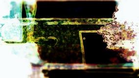 Αφηρημένες μορφές Grunge Στοκ Φωτογραφία