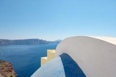 Αφηρημένες μορφές Oia στεγών του χωριού, Santorini, Ελλάδα Στοκ Εικόνες