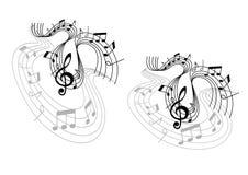 Αφηρημένες μουσικές συνθέσεις κυμάτων Στοκ φωτογραφία με δικαίωμα ελεύθερης χρήσης
