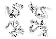 Αφηρημένες μουσικές συνθέσεις Στοκ φωτογραφία με δικαίωμα ελεύθερης χρήσης
