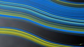 Αφηρημένες μπλε και κίτρινες καμπύλες στο μαύρο υπόβαθρο Gradated ελεύθερη απεικόνιση δικαιώματος