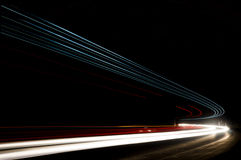 Αφηρημένες μπλε, κίτρινες, κόκκινες και άσπρες ακτίνες του φωτός Στοκ φωτογραφία με δικαίωμα ελεύθερης χρήσης