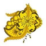 Αφηρημένες λουλούδι και διακόσμηση του Paisley Στοκ φωτογραφία με δικαίωμα ελεύθερης χρήσης