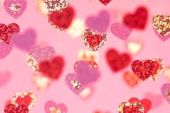 Αφηρημένες ρόδινες καρδιές για την ημέρα του βαλεντίνου Στοκ εικόνα με δικαίωμα ελεύθερης χρήσης